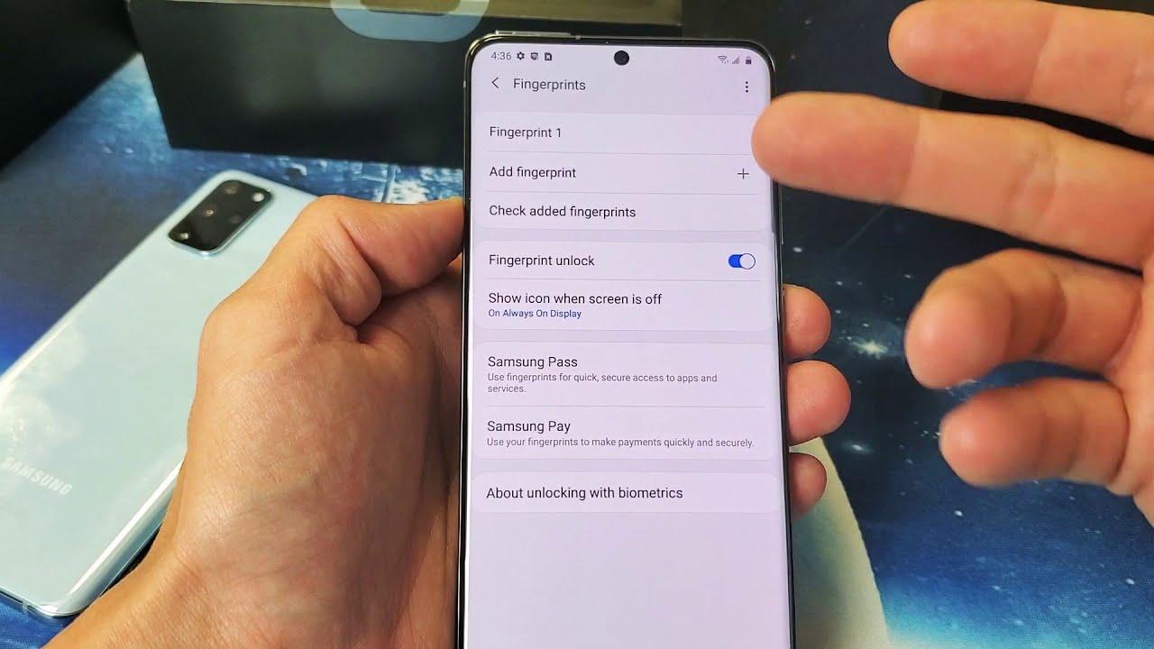 Galaxy S20 S20 How To Remove Delete Fingerprint Password Security Youtube