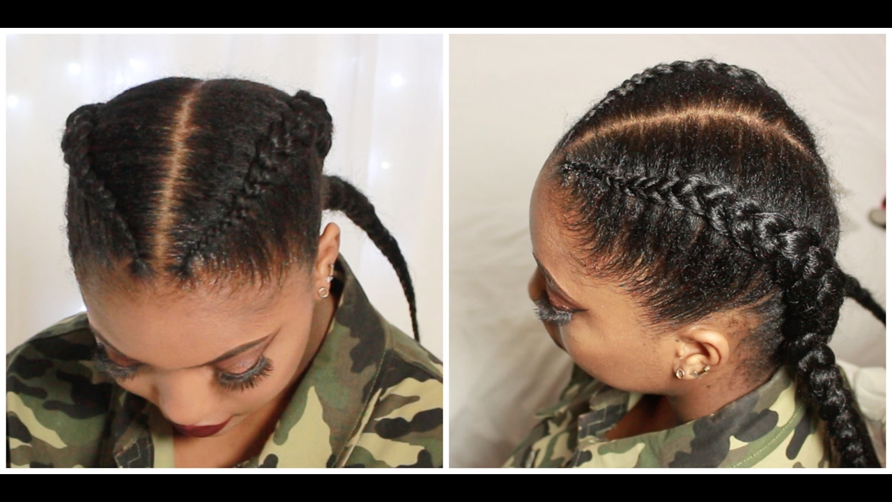 Hair Styles Feed In Braids: Christina Cole Inspired - YouTube