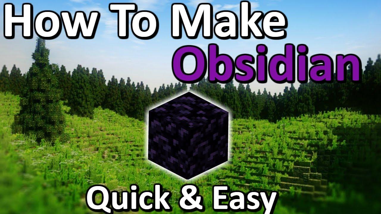 Tutorials Obsidian Farming Official Minecraft Wiki