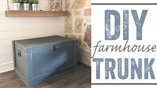 DIY Modern Farmhouse Trunk