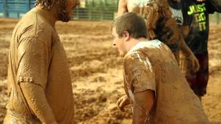 Giant Mud Football Fight