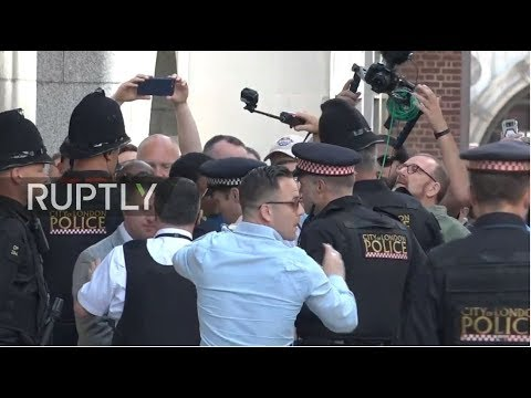 LIVE: Tommy Robinson faces retrial over contempt of court charge