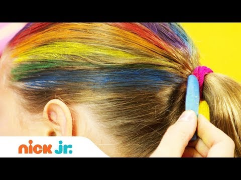 How to Create A Rainbow Helmet 馃寛 Style Files Hair Tutorial | Sunny Day | Nick Jr.