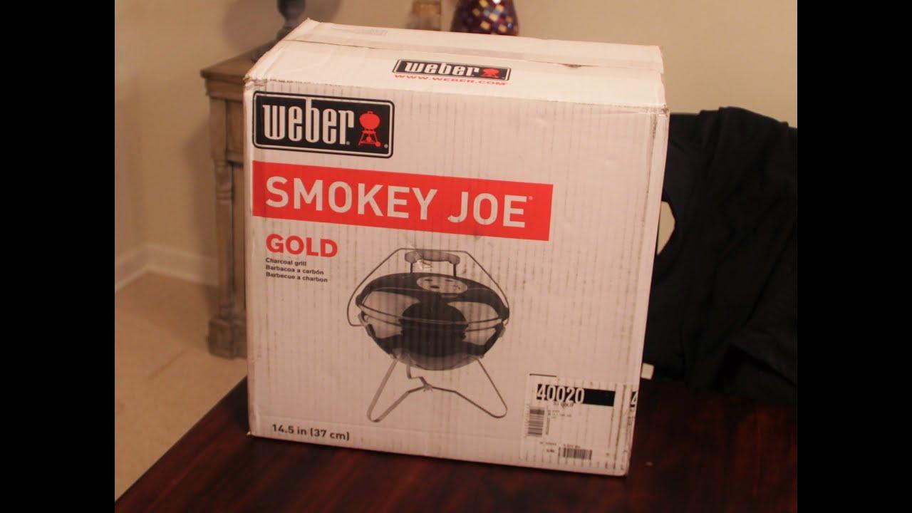 weber smokey joe gold unboxing youtube. Black Bedroom Furniture Sets. Home Design Ideas