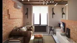 Дизайн интерьера квартиры 37 кв. м. в стиле лофт(, 2015-02-10T18:01:38.000Z)