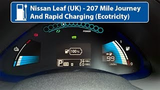 Nissan Leaf 24kw - 207 Mile Journey & Rapid Charging (UK)
