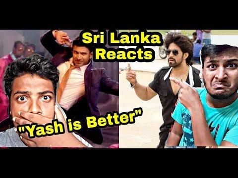 Yash vs Puneeth Dancing Sri Lankan Reacts | Yash Better AH ??
