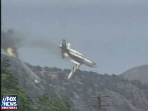C130a Fire Bomber Loses Wings Wmv Youtube
