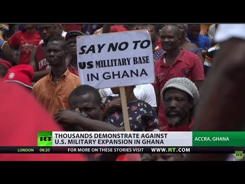 US military coming to Ghana, locals march in protest