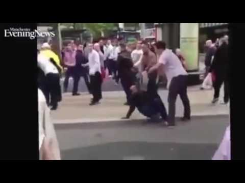 Englishman Defend Mother And Daughter From Muslim Refugee Migrant Attackers! Manchester UK Migrants