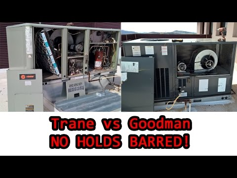 Real world no-holds-barred comparison of Goodman and trane commercial RTU's