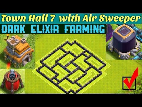 BEST NEW TH7 Dark Elixir Farming Base (Town Hall 7) | Clash Of Clans