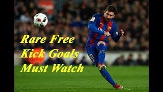 10 Rare Free Kick Goals in Football