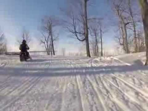 Snowmobiling in the UP - March 3, 2014