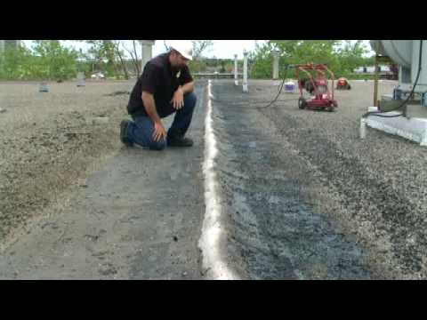 Flat Roof Expansion Joint Repair Toughroof Youtube