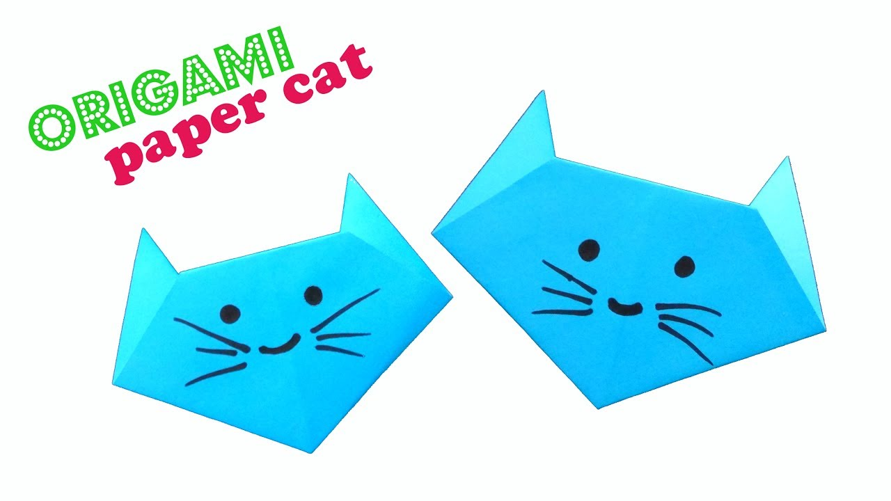 Cute and Easy Origami Cat - Tutorial for Beginners #origami animal ... | 720x1280