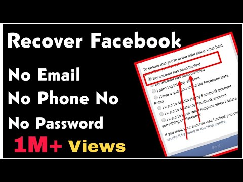 How To Recover Facebook Password Without Email And Phone Number 2020
