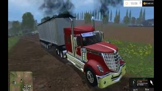 Farming Simulator - Testing out the International Lonestar and 6 axle East dump