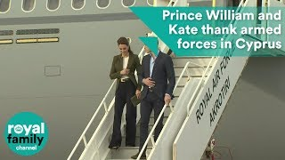 Prince William and Kate thank armed forces at RAF base
