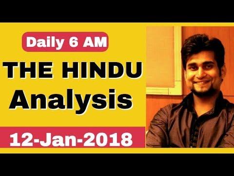 6:00 AM-THE HINDU EDITORIAL ANALYSIS (12 JAN, 2018)