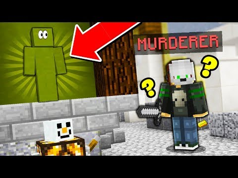 HOW DID NO ONE EVER FIND ME?! (Minecraft Murder Mystery Camo Trolling)