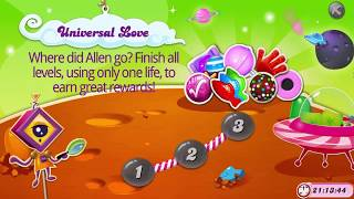 Candy Crush Saga   |   Universal  Love Challenge Level 1 - 3 Completed