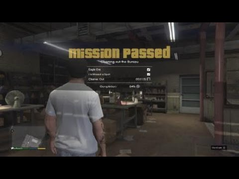 GTA 5 | CLEANING OUT THE BUREAU FULL MISSION - PS4 XBOX360 [ 100% COMPLETION ]