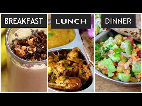 What I Eat In A Day - Indian Weight Loss Diet Plan/Meal Plan-Recipes To Lose Weight - Skinny Recipes thumbnail