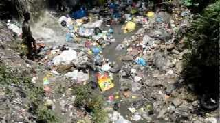 """Recycling"" in Kathmandu - ecological disaster. ""DIRTY ""RIVER"""