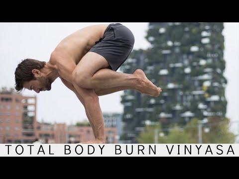 Total Body Burn Vinyasa Flow Morning Yoga Workout Level 2 | Yoga With Tim