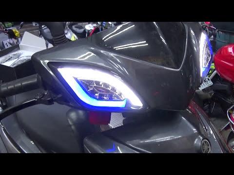 汐止-北鋒車業 GMS M3魚眼大燈 電動高低調整功能展示 正面   Doovi