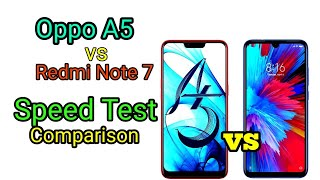 Oppo A5 vs Redmi Note 7 Speed Test comparison