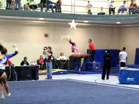 discovery gymnastics 2010 bama rama mckenzie lafferty 1st vault