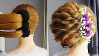 New French Bun Hairstyle With Donut Everyday Hairstyles Cute Hairstyles New Hairstyle