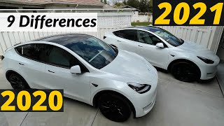 2020 VS 2021 Tesla Model Y Interior and Exterior Differences