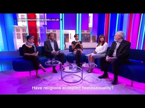 Andrea Williams debates whether religions have accepted homosexuality on BBC One