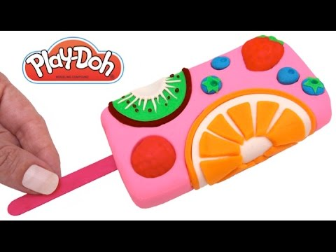 Thumbnail: How to Make a Play Doh Fruit Ice Cream Popsicle & Learn Colors