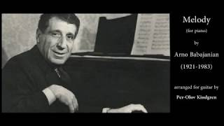 """Melody"" by Arno Babadjanian (Armenia)"