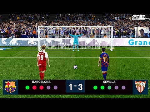 PES 2020 | FC Barcelona Vs Sevilla FC | Penalty Shootout | L.Messi Vs L.De Jong