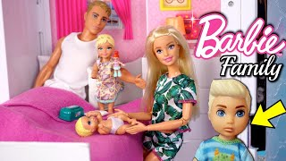 Barbie Baby Doll Stories - Family Road Trip, Gymnastics , Supermarket  & Babysitting