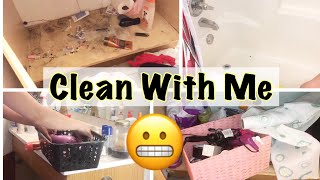Clean With Me 2018 || Speed Clean My Bathroom (Real Mess)