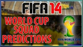 FIFA 14 - WORLD CUP SQUAD PREDICTIONS : SPAIN SQUAD VOTE NOW!!!