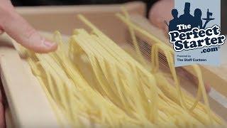 How to cut Linguine pasta