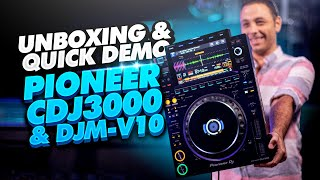 Pioneer CDJ3000 & DJM-V10 Unboxing and quick review // The worlds best DJ CD Players & Mixer in 4K