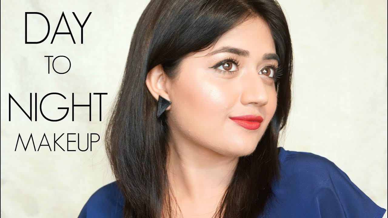 Day To Night Makeup Tutorial For Indian Skin | Corallista - YouTube