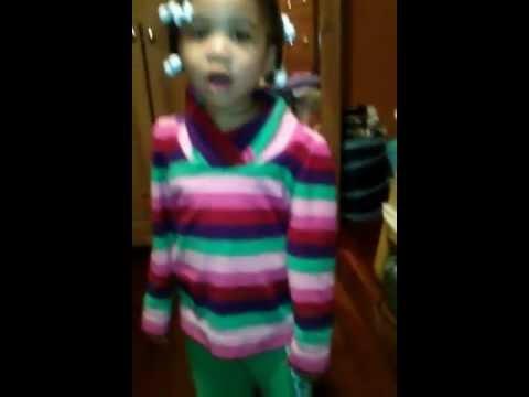 Alicia Keys Ft. Nicki Minaj -  Official Video: Girl On Fire (By 3 Year Old Alyssa)