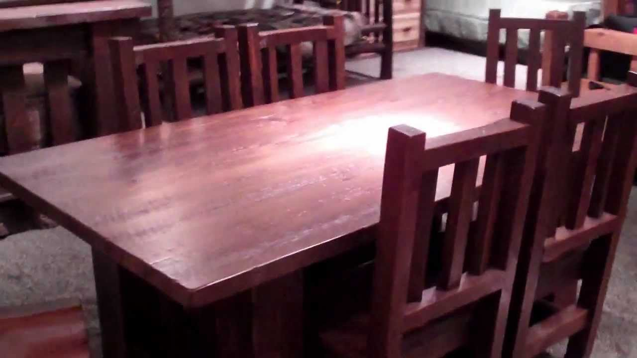 Reclaimed Wood Table Rustic Barnwood Dining Set By