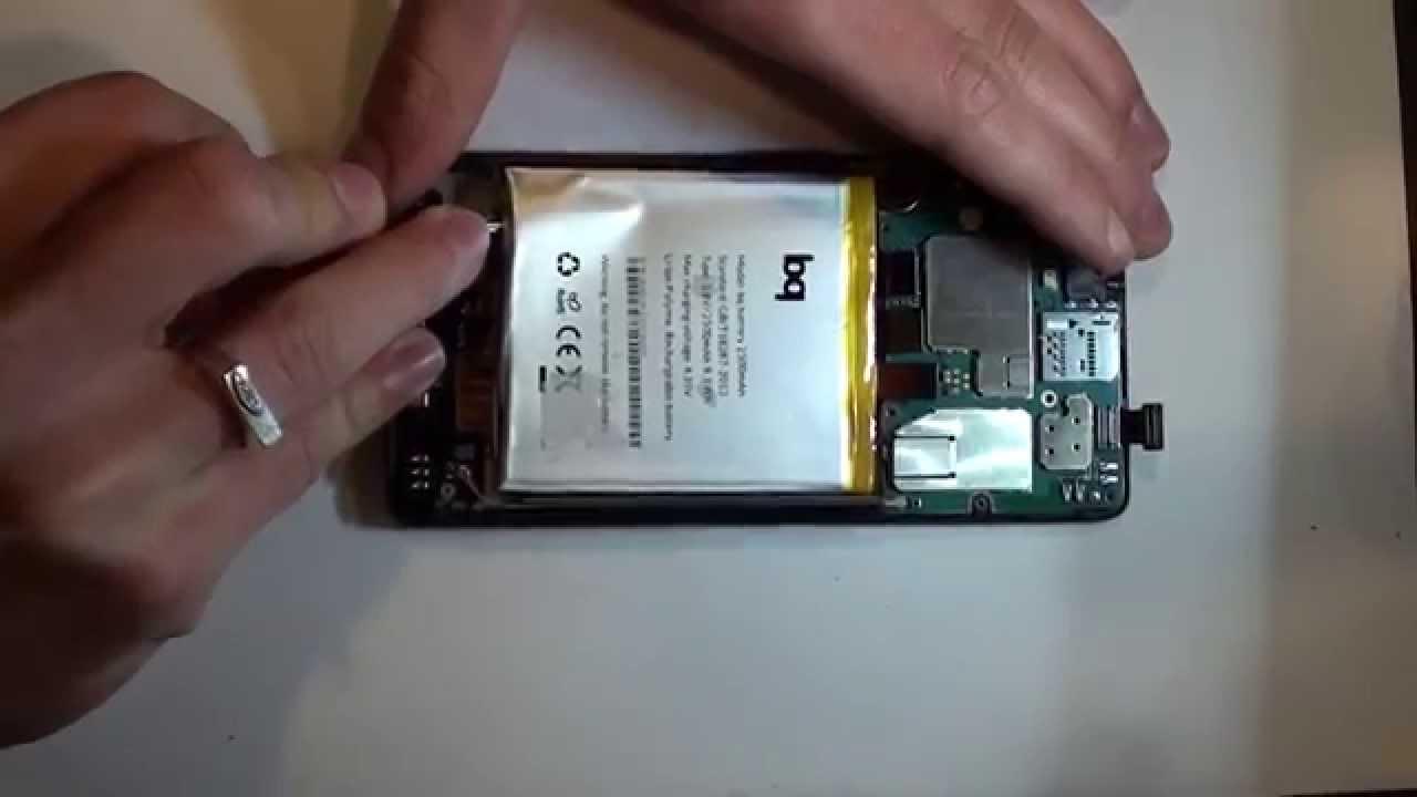 dfab1e454d0 Desmontar y cambiar display + tactil (pantalla) BQ Aquaris E5 HD - YouTube