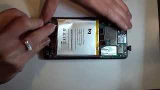 Desmontar y cambiar display + tactil (pantalla) BQ Aquaris E5 HD