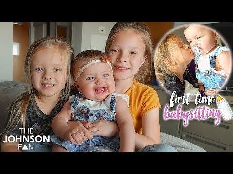 Sisters Babysit Real Baby! 🍼 Kids New Job!